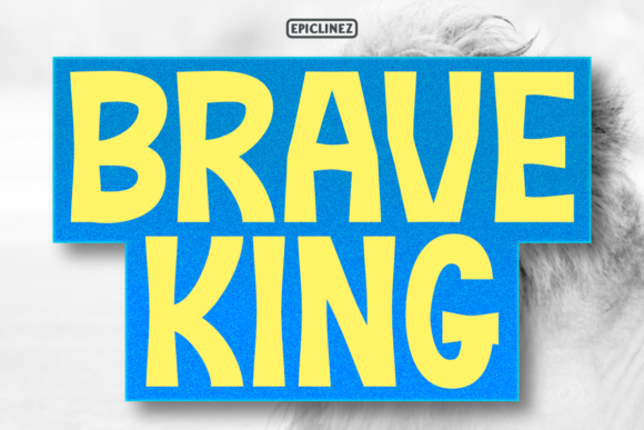 Print on Demand: Brave King Display Font By Epiclinez - Image 1