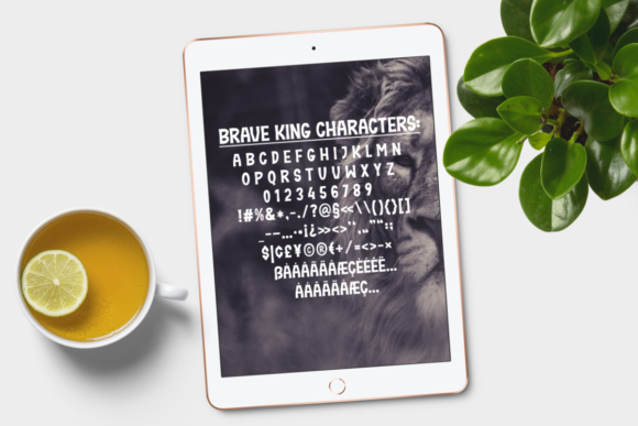Print on Demand: Brave King Display Font By Epiclinez - Image 5