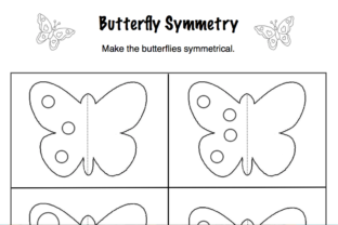 Butterfly Symmetry Graphic K By Lory's Kindergarten Resources!