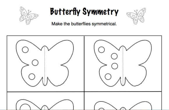 Butterfly Symmetry Graphic K By Lory_araujo
