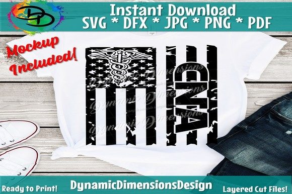 Download Free Cna Flag American Flag Graphic By Dynamicdimensions Creative for Cricut Explore, Silhouette and other cutting machines.