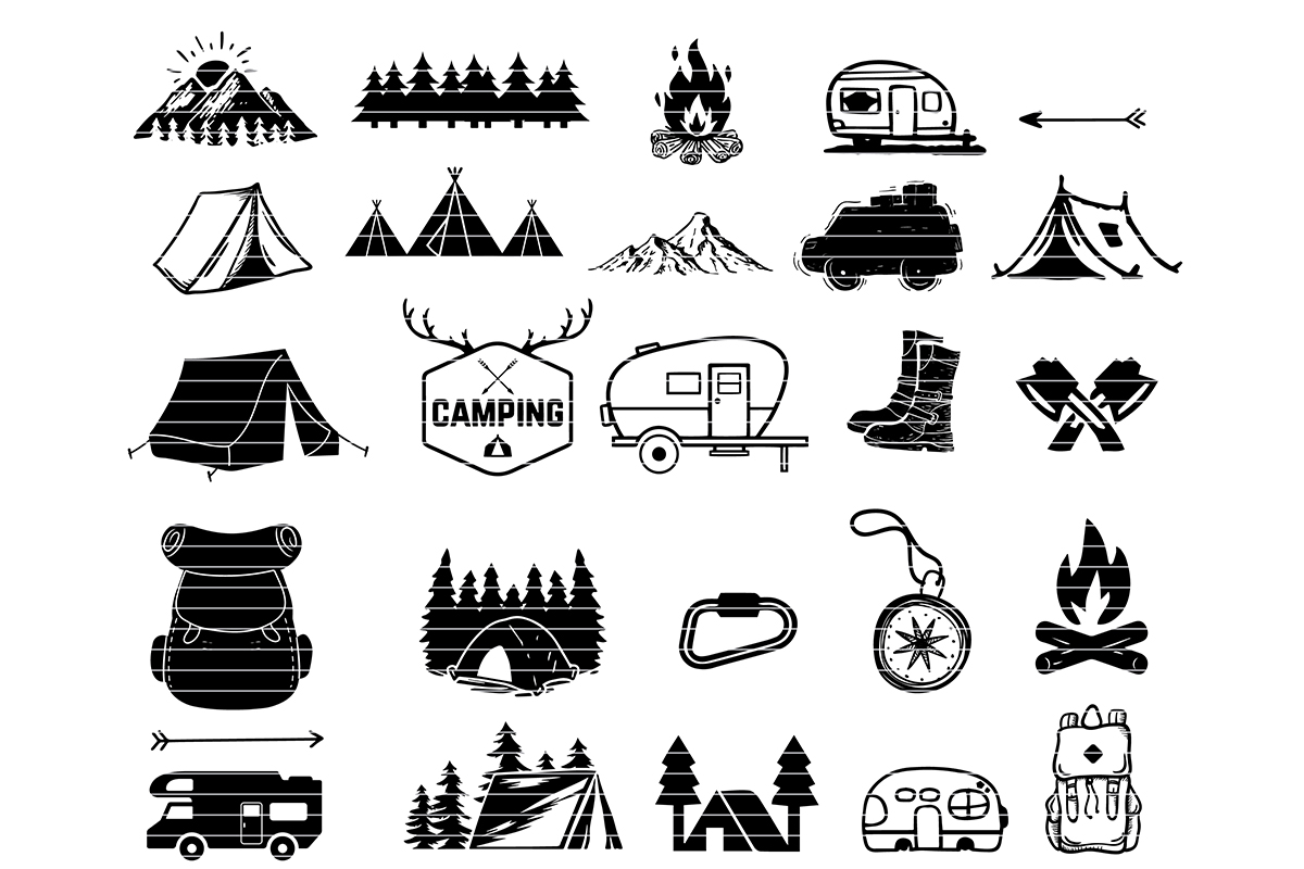 Download Free Campin Clip Art Bundle Graphic By Meshaarts Creative Fabrica SVG Cut Files