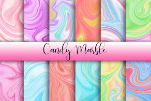 Print on Demand: Candy Marble Background Graphic Backgrounds By PinkPearly 1