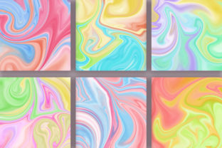 Print on Demand: Candy Marble Background Graphic Backgrounds By PinkPearly 3