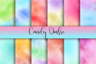 Print on Demand: Candy Ombre Background Graphic Backgrounds By PinkPearly