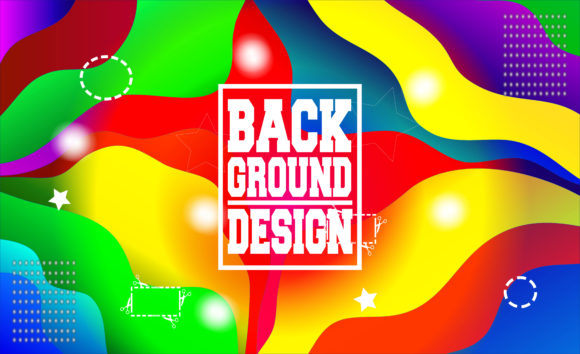 Print on Demand: Colorful Background Gradient Graphic Backgrounds By Mahesa Design