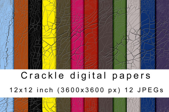 Print on Demand: Crackle Digital Papers Graphic Textures By Andrea Kostelic