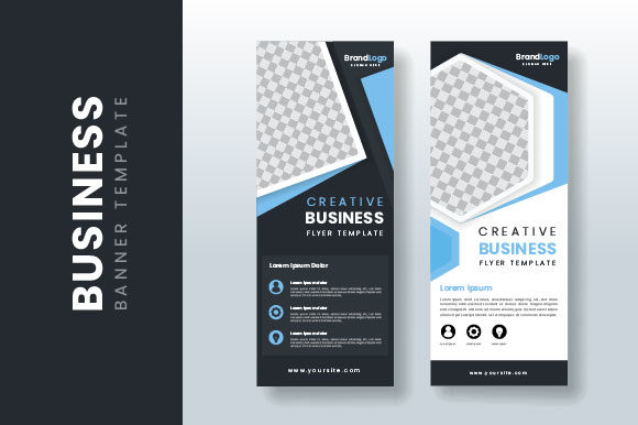 Creative Design Business Banner Roll-up Graphic Print Templates By H12