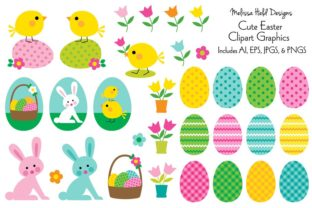 Cute Easter Clipart Graphics Graphic Illustrations By Melissa Held Designs