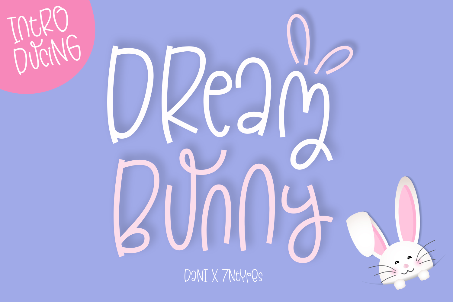 Download Free Dream Bunny Font By Dani 7ntypes Creative Fabrica for Cricut Explore, Silhouette and other cutting machines.