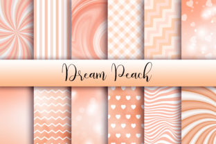 Print on Demand: Dream Peach Background Graphic Backgrounds By PinkPearly