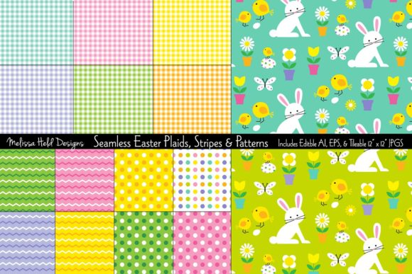 Download Free Easter Plaids Stripes Patterns Graphic By Melissa Held for Cricut Explore, Silhouette and other cutting machines.