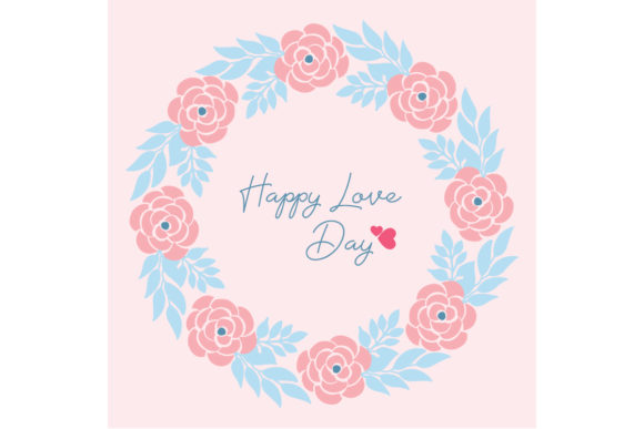 Download Free Elegant Happy Love Day Greeting Card Graphic By Stockfloral for Cricut Explore, Silhouette and other cutting machines.