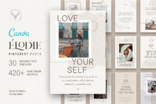 Print on Demand: Elodie - Canva Pinterest Post Templates Graphic Websites By SilverStag