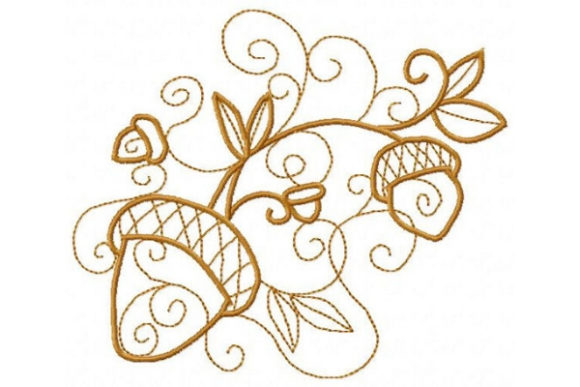 Enchanted Acorns Forest & Trees Embroidery Design By Sue O'Very Designs - Image 1