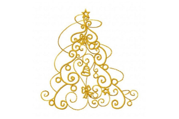 Enchanted Christmas Tree Navidad Diseños de bordado Por Sue O'Very Designs