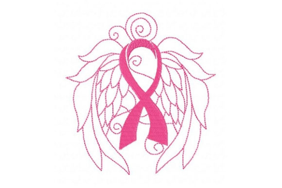 Enchanted Ribbon of Hope Awareness Embroidery Design By Sue O'Very Designs