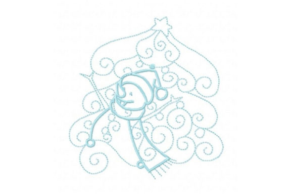 Enchanted Snowman Winter Embroidery Design By Sue O'Very Designs - Image 1