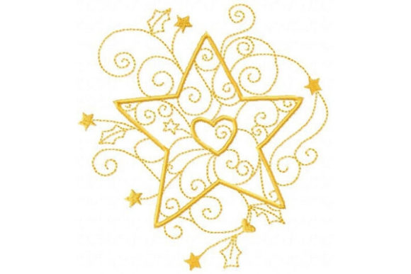 Enchanted Star Shapes Embroidery Design By Sue O'Very Designs