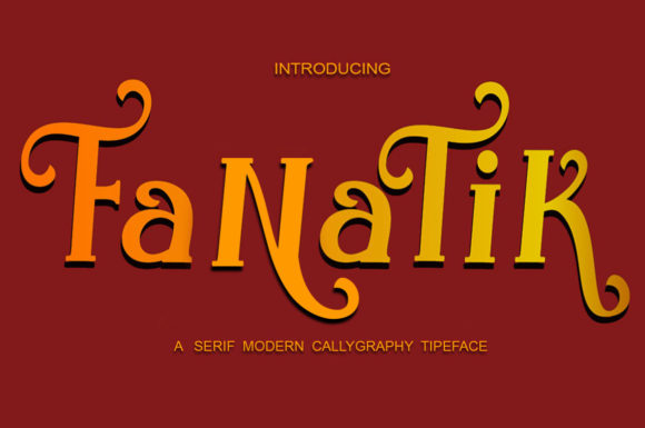 Print on Demand: Fanatik Serif Font By saidi studio