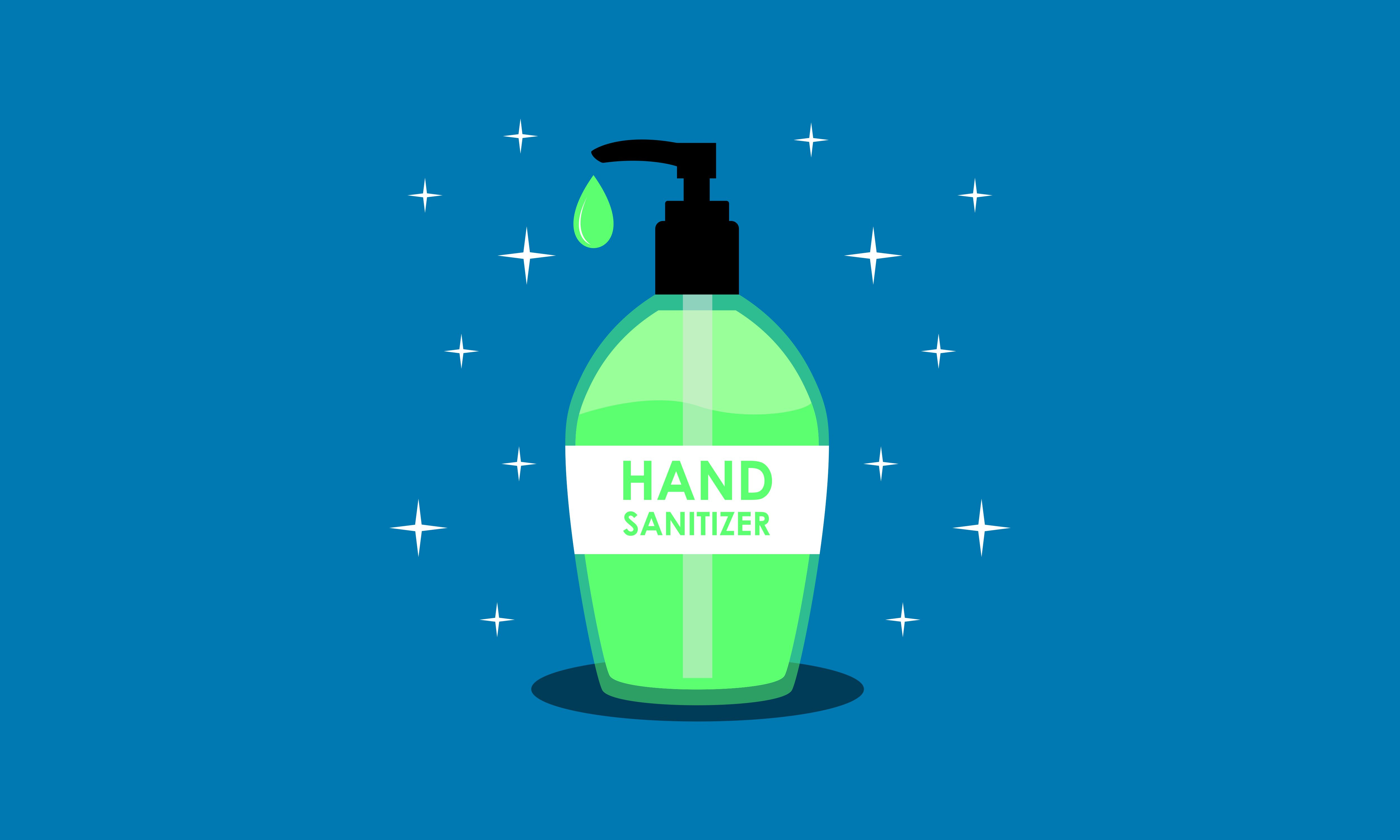 Download Free Flat Hand Sanitizer Gel Logo Concept Graphic By 2qnah Creative Fabrica PSD Mockup Template