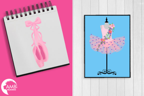 Floral Ballerina Tutus Clipart Graphic Illustrations By AMBillustrations - Image 5