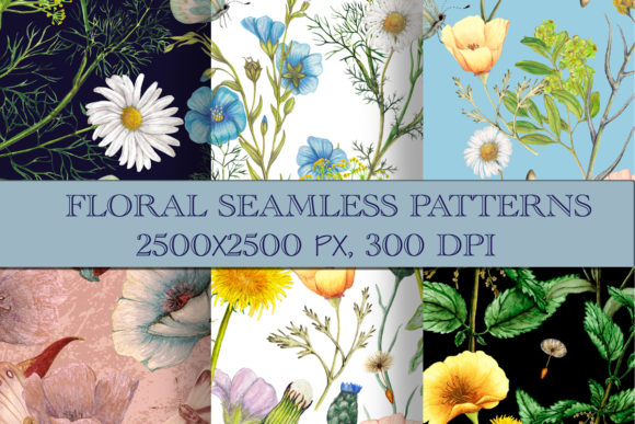 Floral Seamless Patterns Graphic Patterns By arevkasunshine