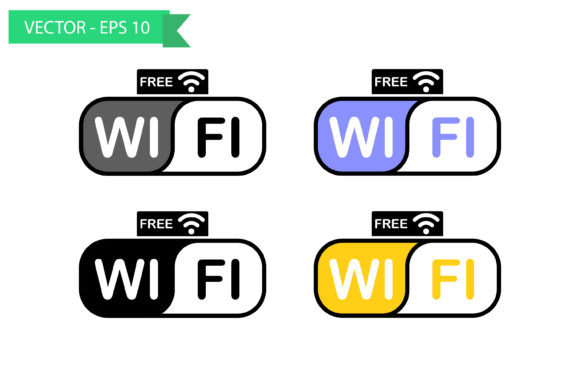 Free Wifi Sign Set Graphic Icons By sholicha