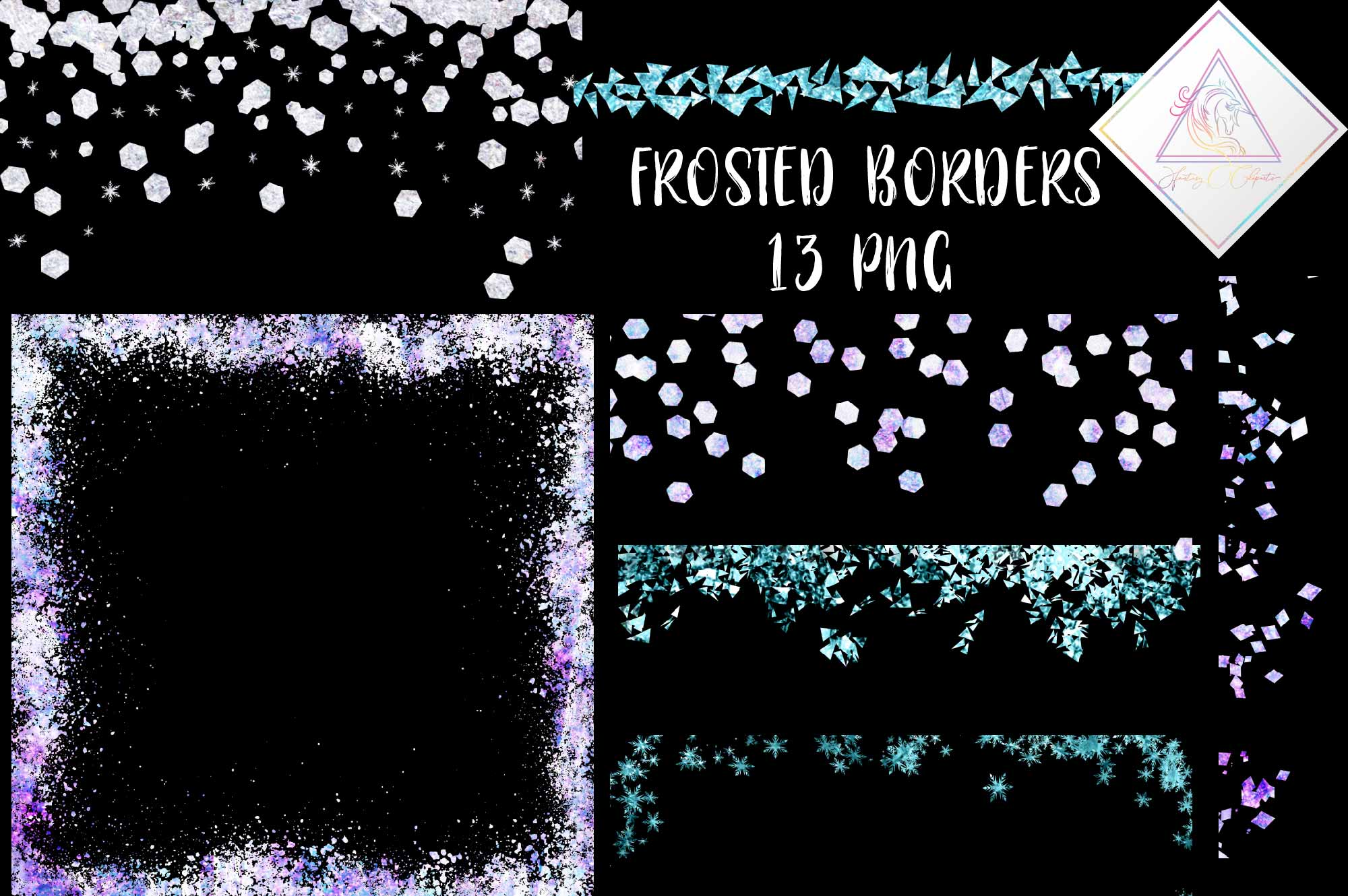 Download Free Frosted Borders Clipart Graphic By Fantasycliparts Creative Fabrica for Cricut Explore, Silhouette and other cutting machines.