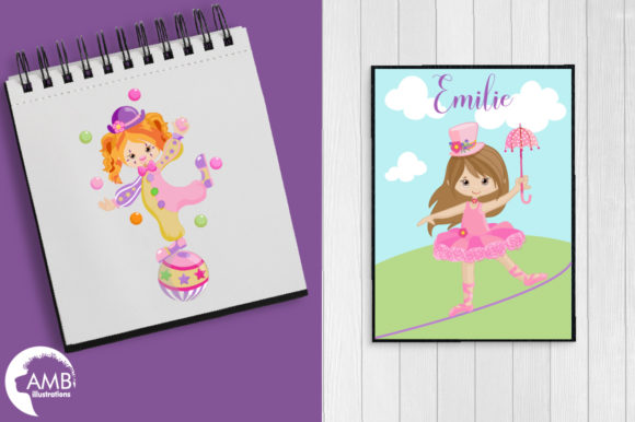 Girly Circus Clipart Graphic Illustrations By AMBillustrations - Image 5