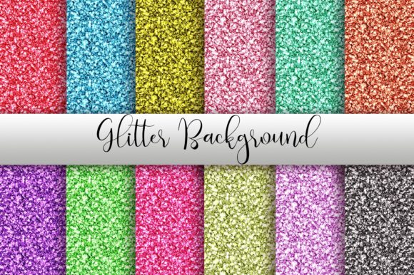 Glitter Background Digital Papers Graphic Backgrounds By PinkPearly - Image 1