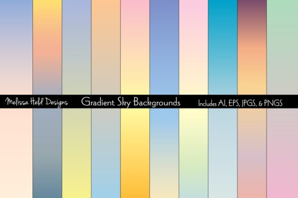 Gradient Sky Backgrounds Graphic Backgrounds By Melissa Held Designs
