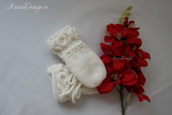 Hand Knitting Pattern Baby Mittens Graphic
