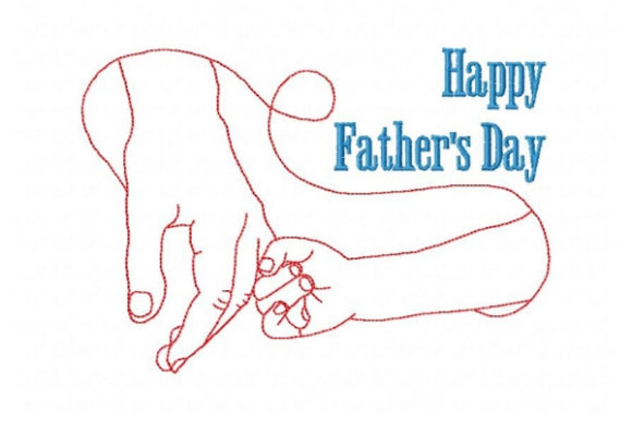 Happy Father's Day Father's Day Embroidery Design By Sue O'Very Designs - Image 1