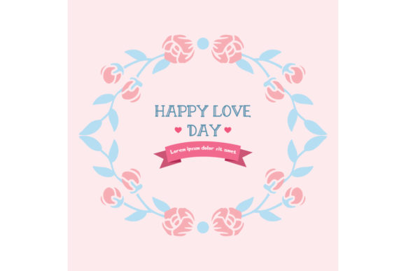 Download Free Simple Happy Love Day Invitation Card Graphic By Stockfloral for Cricut Explore, Silhouette and other cutting machines.