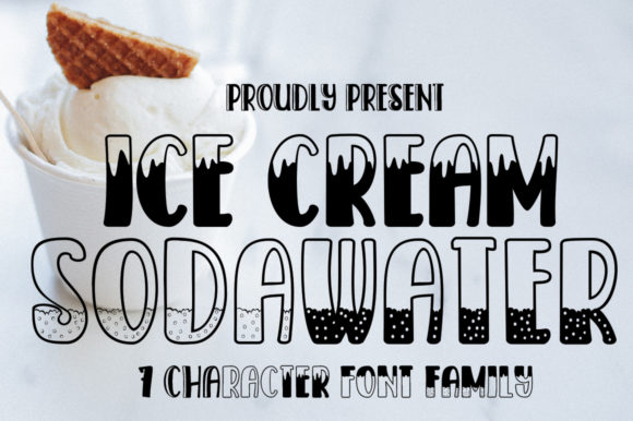 Print on Demand: Ice Cream SodaWater Display Font By edwar.sp111