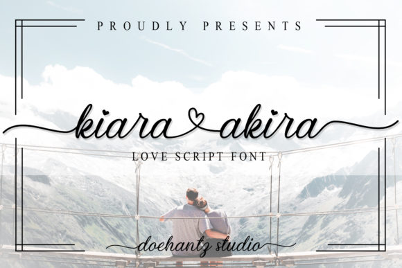 Print on Demand: Kiara Akira Script & Handwritten Font By Doehantz Studio