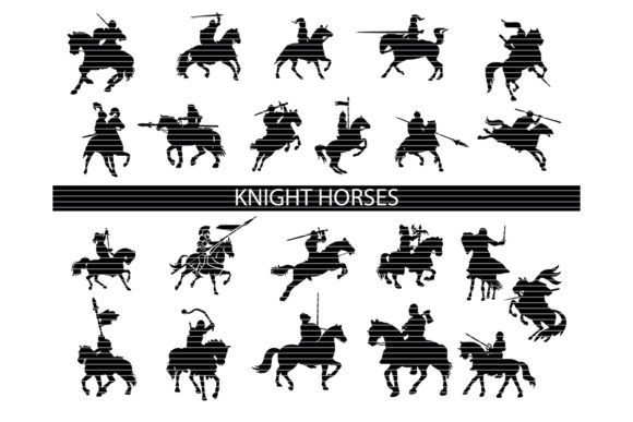 Download Knight Horses Silhouette Bundle