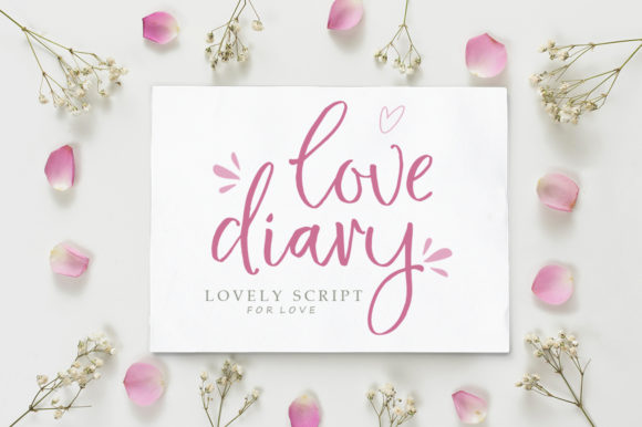 Download Free Love Diary Font By Delishadesign Font Creative Fabrica for Cricut Explore, Silhouette and other cutting machines.