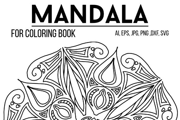 Print on Demand: Mandala Design 45 Graphic Coloring Pages & Books By stanosh