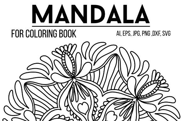 Print on Demand: Mandala Design 50 Graphic Coloring Pages & Books By stanosh - Image 1