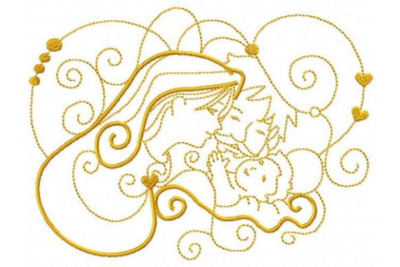 Mary, Joseph and Baby Jesus Christmas Embroidery Design By Sue O'Very Designs - Image 1