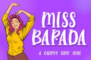 Print on Demand: Miss Barada Serif Font By Fallengraphic