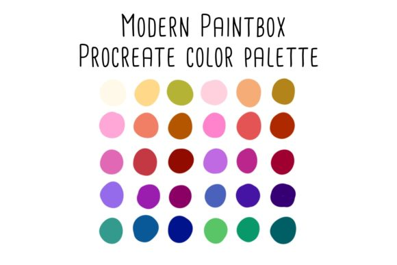 Print on Demand: Modern Paintbox Procreate Color Palette Graphic Add-ons By RoughDraftDesign