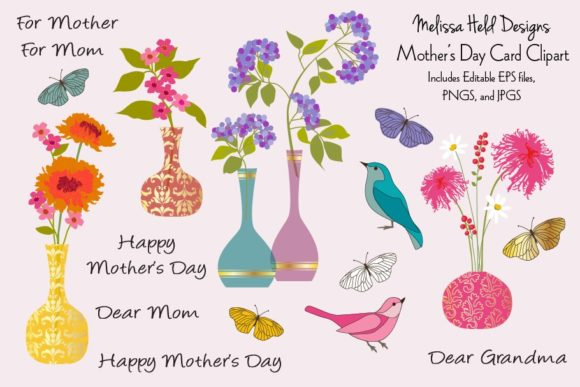 Download Free Mother S Day Card Clipart Graphic By Melissa Held Designs Creative Fabrica for Cricut Explore, Silhouette and other cutting machines.
