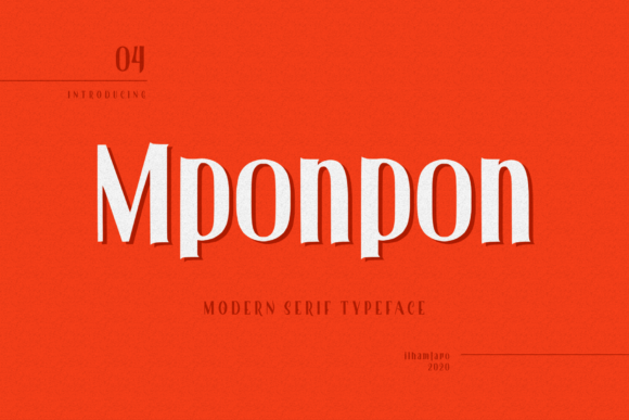 Print on Demand: Mponpon Serif Font By ilhamtaro