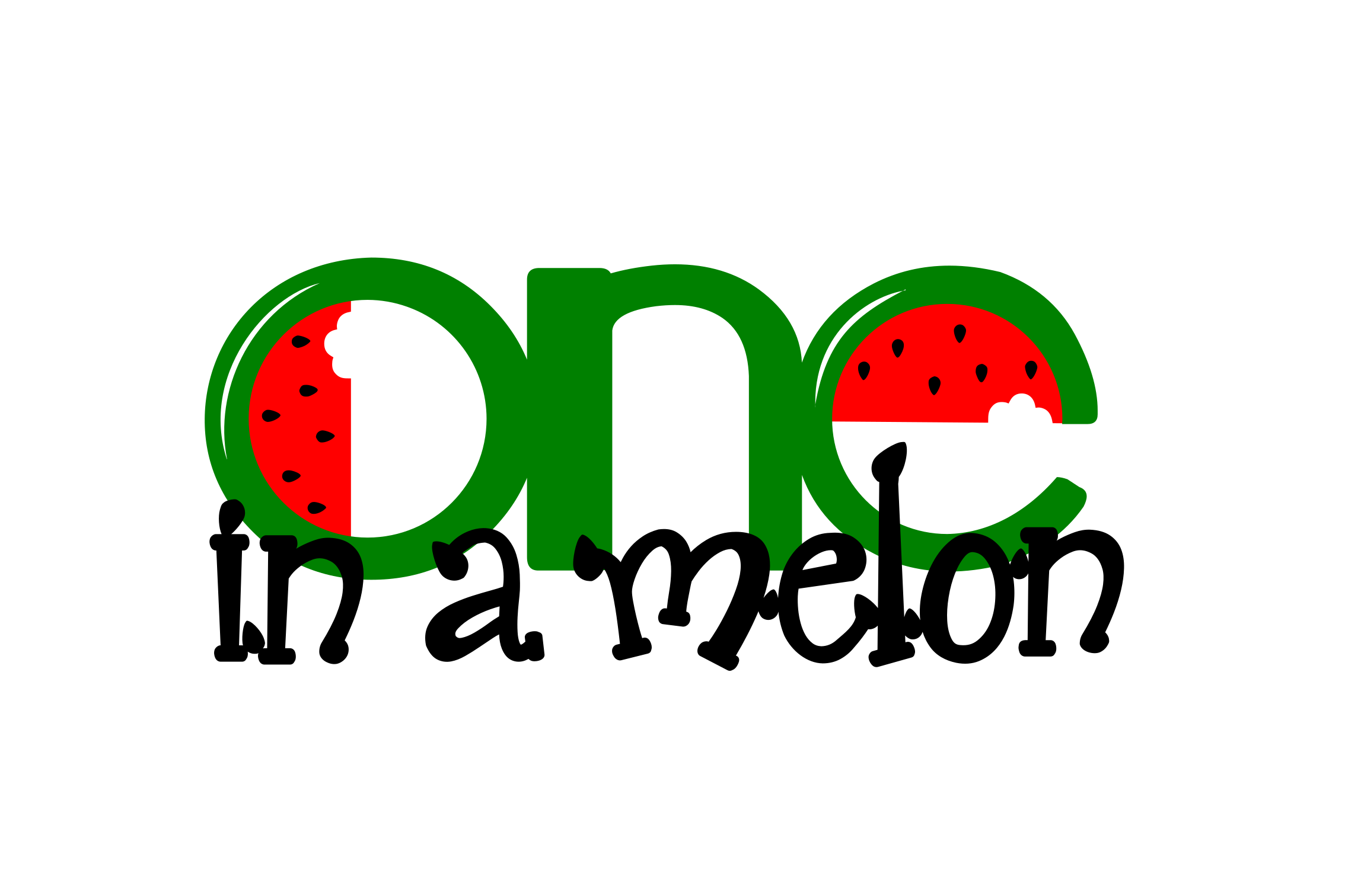 Download Free One In A Melon Watermelon Graphic By Strawsticksnbricks for Cricut Explore, Silhouette and other cutting machines.