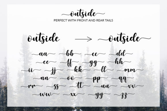 Print on Demand: Outside Script & Handwritten Font By Graphix Line Studio - Image 2