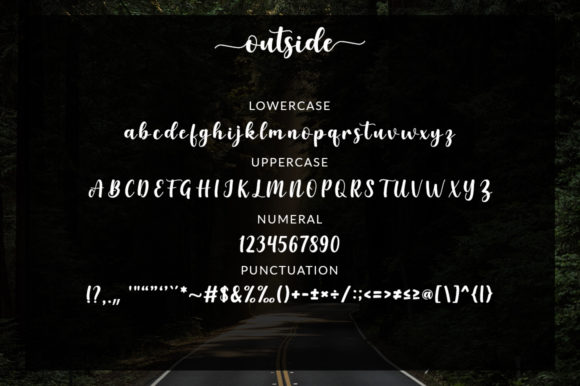 Print on Demand: Outside Script & Handwritten Font By Graphix Line Studio - Image 3
