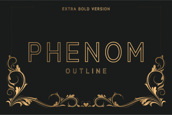 Print on Demand: Phenom Outline Extra Bold Sans Serif Font By Nan Design